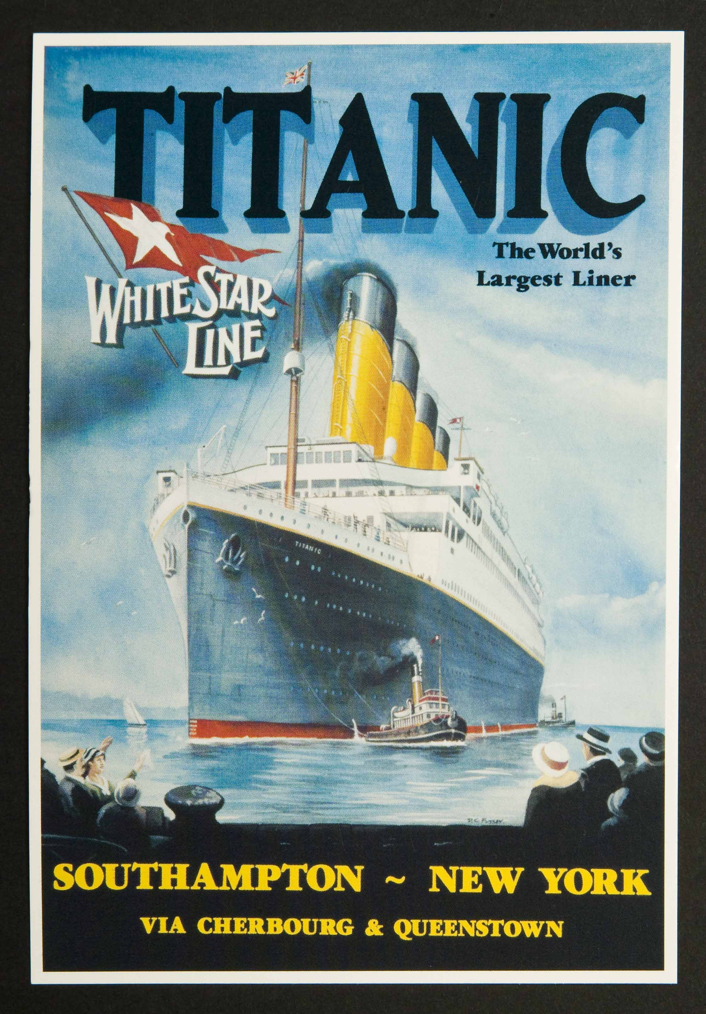 Titanic - The World's Largest Liner A3 Poster